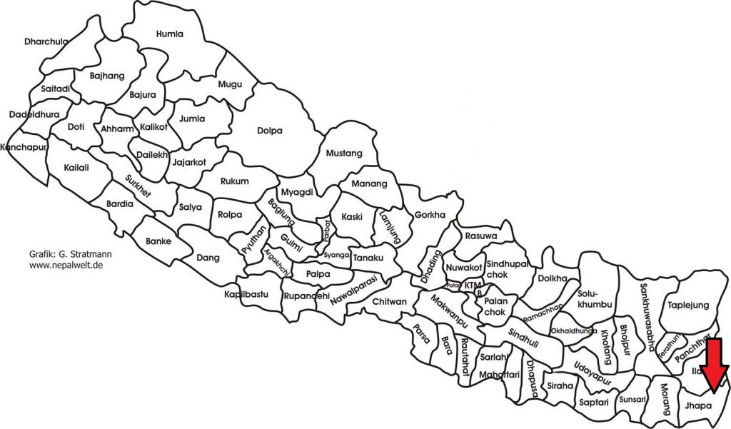 Schulprojekt in Jhapa